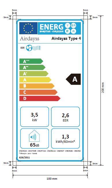 Energielabel Airdayss Type 4